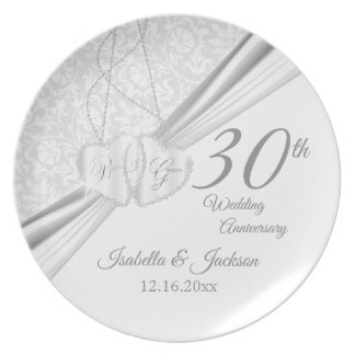 30th Wedding Anniversary Keepsake Design Plate