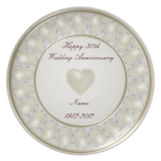 30th Wedding Anniversary Melamine Plate