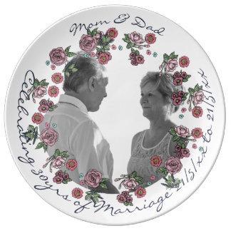 30th Wedding Anniversary PHOTO Commemorative Named Plate