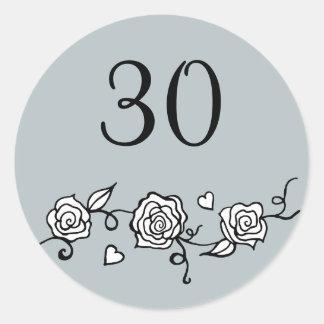 30th Wedding Anniversary Stickers