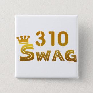 310 California Swag 2 Inch Square Button