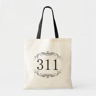 311 Area Code Budget Tote Bag