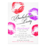 311-Bachelorette Party - Colourful Kisses Personalized Invites
