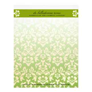 311-Belladonna Damask Lime Letterhead