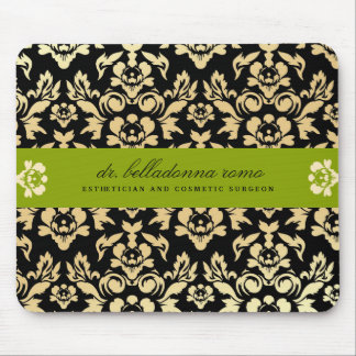 311-Belladonna Damask Lime Mousepad