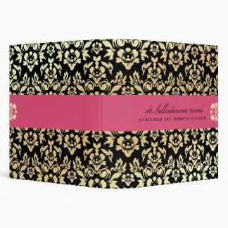 311 Belladonna Damask Pink Vinyl Binder