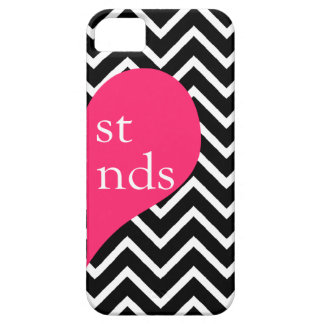 311 Best Friends Heart Chevron Right Side iPhone 5 Cover