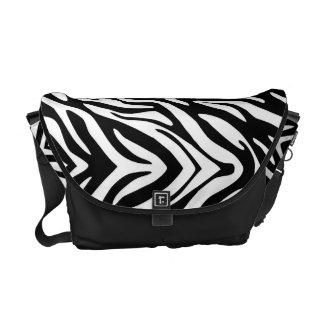 311 Black White Zebra Print Commuter Bags