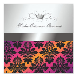 311-Blackberry Damask Ribbon Sunset VIP Card