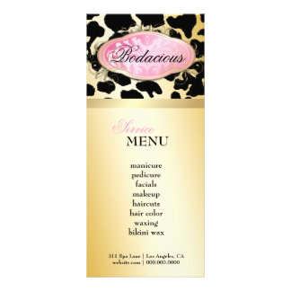 311 Bodacious Boutique Golden Leopard Loyalty Card Full Color Rack Card