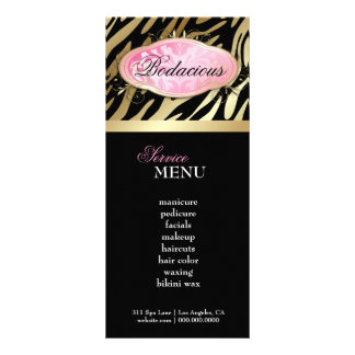 311 Bodacious Boutique Zebra Loyalty Card Custom Rack Cards