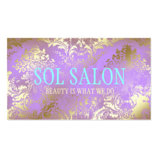 311 Boho Sol Lilac Purple Spa, Salon or Boutique Double-Sided Standard Business Cards (Pack Of 100)