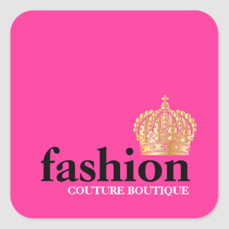 311 Bold Fashion Boutique Tiara Square Sticker