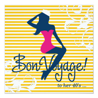 311-Bombshell Silhouette Nautical Theme Card