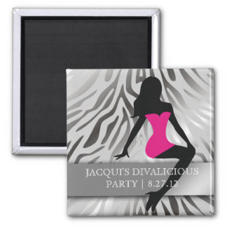 311-Bombshell Silhouette Party Favor Square Magnet