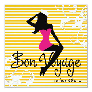 311 Bon Voyage Silhouette Nautical Theme Card