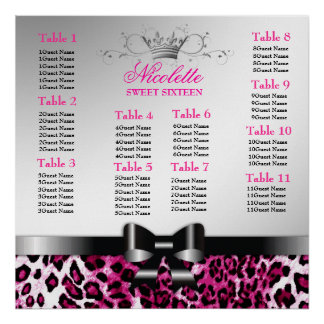 311 Bowlicious Hot Pink Leopard Seating Chart