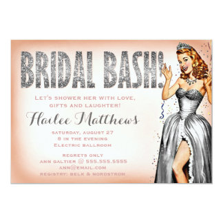 311 Bridal Bash Pin Up Girl Sparkle Card