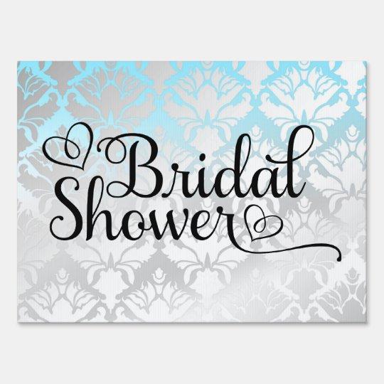 311 Bridal Shower Aqua Damask