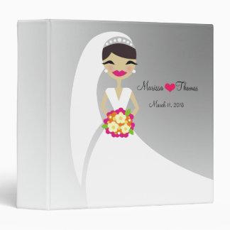 311-Brunette Bride - Silver Background Binders