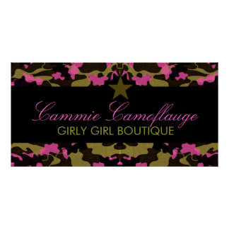 311 Camo Star Pink Banner Poster