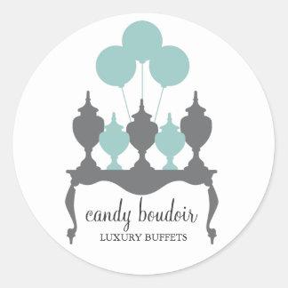 311 Candy Boudoir Rococo Robin Egg Blue Sticker