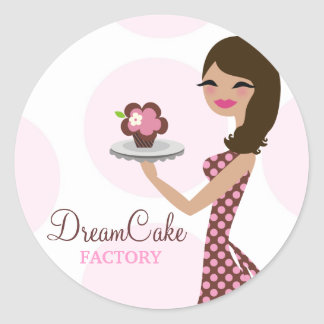 311 Carlie the Cupcake Cutie Brunette Sticker