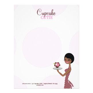 311 Carmella the Cupcake Cutie Brunette Custom Letterhead