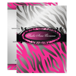 311 C'est Luxueux | Hot  Pink Zebra | Sweet 16 Card