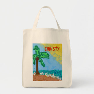 311-CHRISTY'S BEACH CUSTOMIZABLE GROCERY TOTE BAG