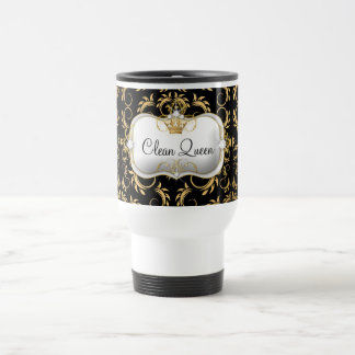 311 Ciao Bella Golden Divine Black Travel Mug