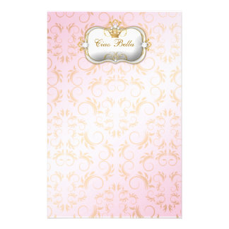 311 Ciao Bella Golden Divine Pink Customized Stationery
