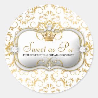 311-Ciao Bella Golden White Divine Round Sticker