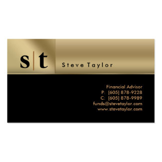 311 Classy Professional Black & Gold Business Card