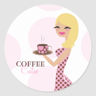 311 Coffee Cutie Blonde Wavy Sticker