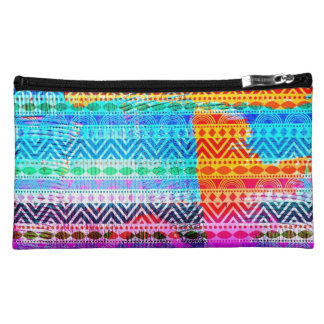 311 Colorful Aztec Texture Cosmetic Bags