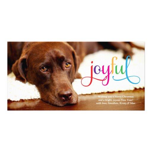 311 Colorful Joyful Pet Christmas Card Photo Card