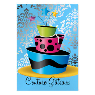 311 Couture Gâteaux Multi Blue Premium Pearl Paper Large Business Card