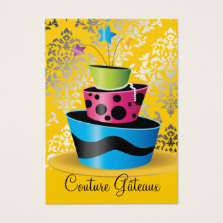 311 Couture Gâteaux Multi Yellow Pearl Paper Business Card
