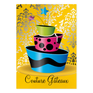 311 Couture Gâteaux Multi Yellow Pearl Paper Large Business Card