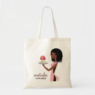 311 Cupcake Cutie African American Pink Budget Tote Bag