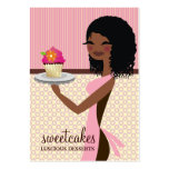 311 Cupcake Cutie African American Pink Pack Of Chubby Business Cards