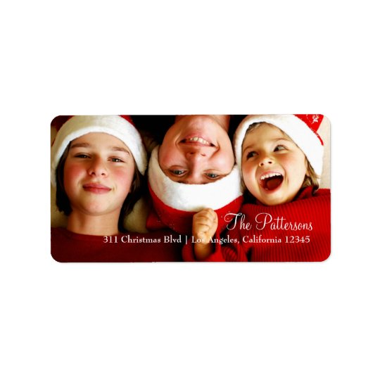 311 Customizable Christmas Photo Label