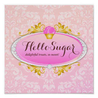 311 Customizable Hello Sugar Bakery Poster
