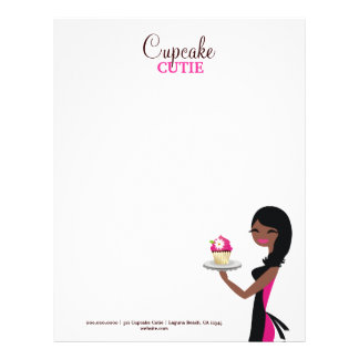 311 Daisy the Cupcake Cutie African American Letterhead Template