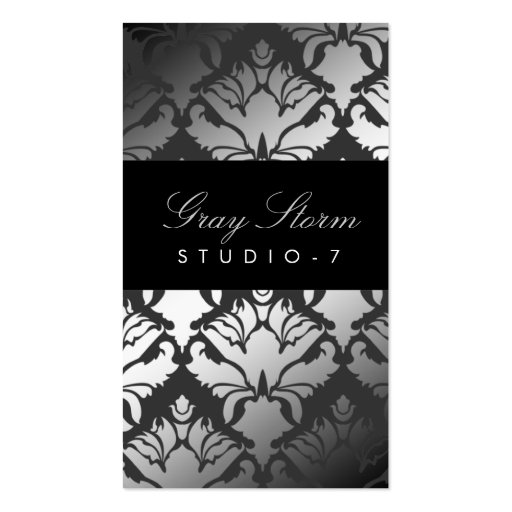 311 Damask Shimmer Gray Storm Business Card