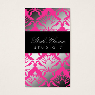 311 Damask Shimmer Pink Flame Plain Back Business Card