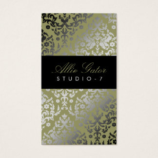 311 Dazzling Damask Alligator Business Card