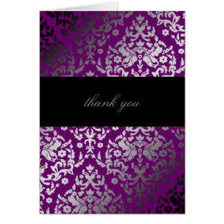 311-Dazzling Damask Extraordinary Purple Card