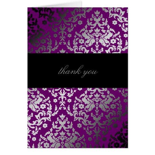 311-Dazzling Damask Extraordinary Purple Card